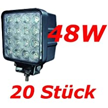 Miracle 20 x 48 W 16 LED Phare de travail Lampe de travail Offroad 12 V 24 V Jeep SUV ATV IP67