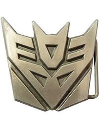 De color marfil Falcon Transformers Decepticons para hombre hebilla de cinturón
