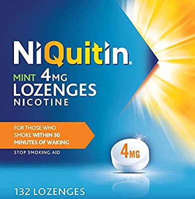 NiQuitin Mint Lozenges- 4mg Pack of 132 Lozenges from Perrigo