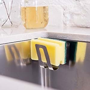 Magisso 70106 Halter in Edelstahl für Schwamm oder Spülbürste, 10- Sekunden Installation, mit Gegenmagneten