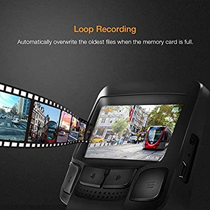 APEMAN-Dashcam-Auto-Kamera-WiFi-Full-HD-1080P-Autokamera-mit-APP-245-IPS-Bildschirm-170-WeitwinkelWDRG-SensorNachtsichtLoop-AufnahmeBewegungserkennungParkmonitor