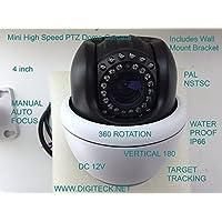 4pollici Mini ad alta velocità Dome Visione Notturna con staffa a parete impermeabile IP66480TVL/540TVL/650TVL 12V Auto Focus Target Tracking sistema TVCC