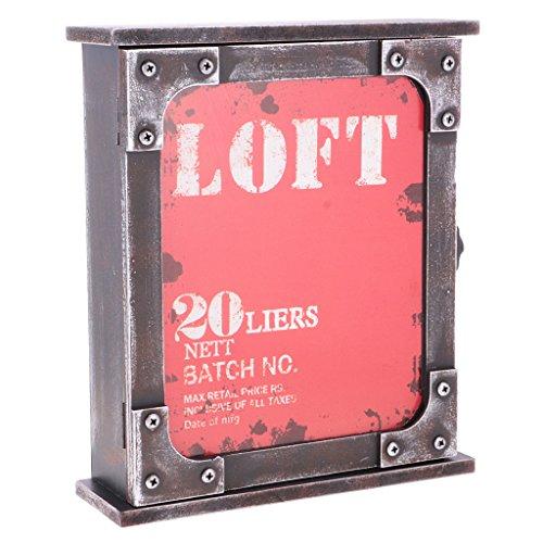 MagiDeal Boîte de Rangement en Bois Antique Affichage de Porte-clés Bijoux Objet Collection Décoration Maison - Rouge