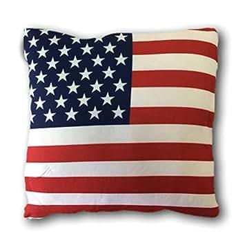 coussin garni 38x38 cm americain usa drapeau américain