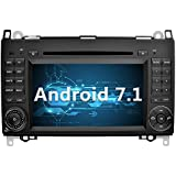 YINUO 7 Zoll 2 Din Android 7.1.1 Nougat 2GB RAM Quad Core Autoradio Moniceiver DVD GPS Navigation 1080P OEM Stecker Canbus Orange Tastenbeleuchtung für Mercedes-Benz A-class W169 (2004-2012)/ Mercedes-Benz B-class W245 (2004-2012) / Mercedes-Benz Viano/Vito(W639) (2006-2014)/ Mercedes-Benz Sprinter W906/W209/W311/W315/W318 (2006-2016) Unterstützt DAB+ Bluetooth OBD2 Wlan