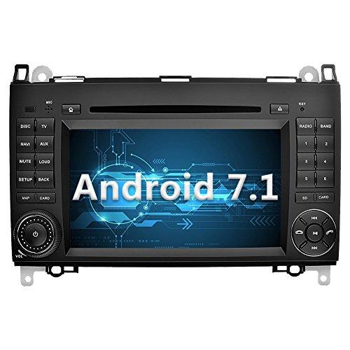 YINUO 7 pouces 2 Din Android 7.1.1 Nougat 2GB RAM Quad Core écran tactile Autoradio Lecteur de DVD GPS Navigation avec Bluetooth pour Mercedes-Benz A-class W169 (2004-2012)/ Mercedes-Benz B-class W245 (2004-2012) / Mercedes-Benz Viano/Vito(W639) (2006-2016)/ Mercedes-Benz Sprinter W906/W209/W311/W315/W318 (2006-2016) (Autoradio)