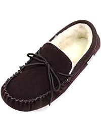 SNUGRUGS - Zapatillas de estar por casa para hombre marrón marrón