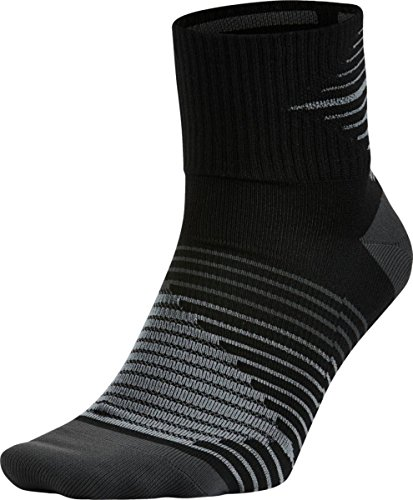 Nike Dri-FIT Lightweight Quarter Socken, Schwarz (Black/Anthracite), 34-38 EU -
