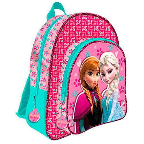 Mochila Frozen Disney My sister My hero doble bolsillo adaptable 41cm