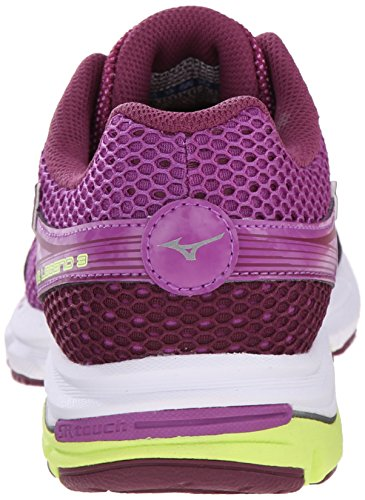 Mizuno Wave Legend 3 Synthétique Chaussure de Course Purple-Gray-Yellow