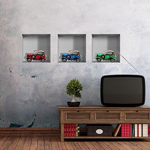 bluelover-kid-regalo-wall-art-classic-car-3d-equitazione-lattice-parete-stickers-pag-rimovibile-grig