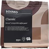 Marque Amazon- Solimo Dosettes de café Classic, compatibles Senseo - café certifié UTZ, 90 dosettes (5x18)