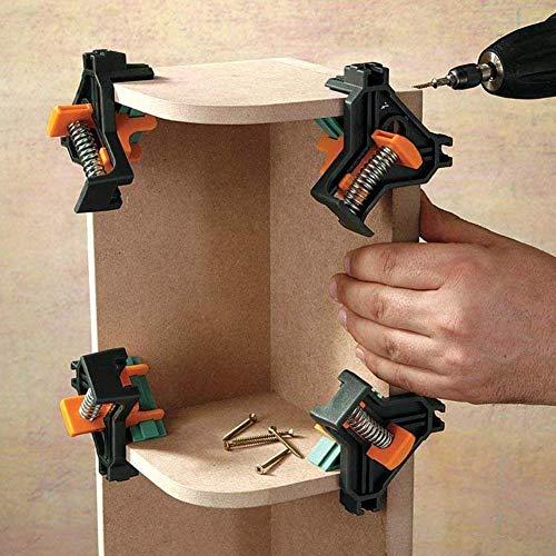 Abrazaderas de esquina, clip de fijación rápida, localizador de perforación de carpintería, retenedor de esquina, mandíbula ajustable para trabajo en madera, ingeniería