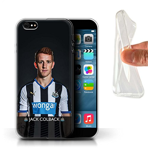 Offiziell Newcastle United FC Hülle / Gel TPU Case für Apple iPhone 6+/Plus 5.5 / Pack 25pcs Muster / NUFC Fussballspieler 15/16 Kollektion Colback