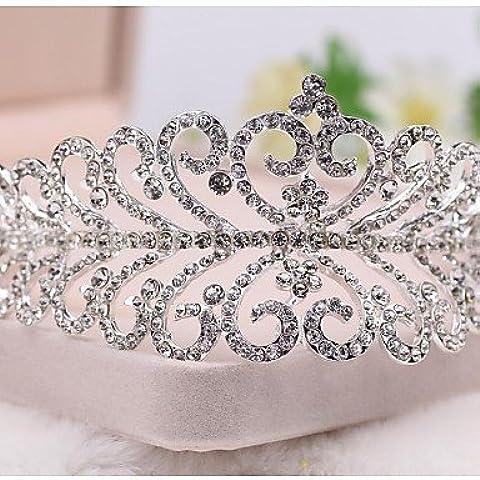 GAO&SP nupcial de la princesa boda de cristal prom desfile corona tiara diadema