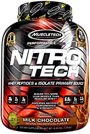 Muscletech Performance Series Nitrotech Whey Protein Peptides & Isolate (30g Protein, 3g Creatine, 6.8 BCA