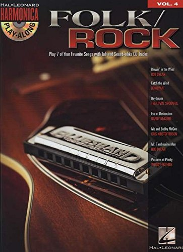 Harmonica Play Along Volume 4 Folk Rock Harmonica Book/Cd