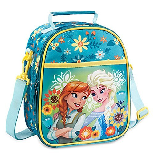 Disney Store Frozen Fever Elsa Anna Lunch Box Tasche Tote Schule Blaugrün New 2016