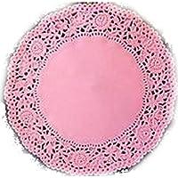 3 Blondas de papel encaje rosa para bandejas diámetro ...