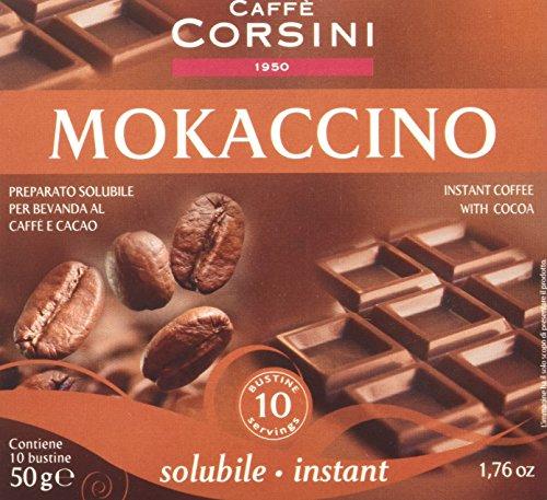 Caffè Corsini Bustine Monodose di Istantaneo Mocaccino  - 12 confezioni da 10 bustine  - Totale 120 Bustine