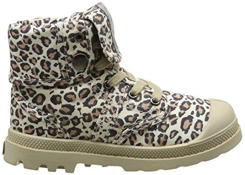 Palladium Baggy Animals K, Boots mixte enfant Marron (Leopard)