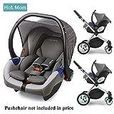 Hot Mom Autoschale Group 0+ entspricht EU standard ECE44, kompatible mit hot mom Kinderwagen modell...