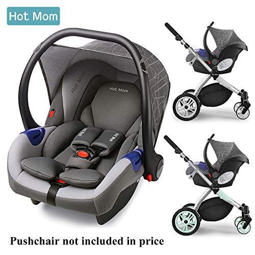 Hot Mom Multi Kinderwagen Kombikinderwagen 2 in 1 mit Buggy 2018 neues Design, Babyschale separat erhältlich