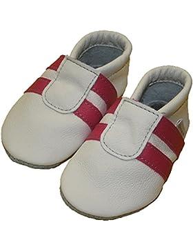 Krabbelschuhe/Babyschuhe Sportlich Pink-Weiß