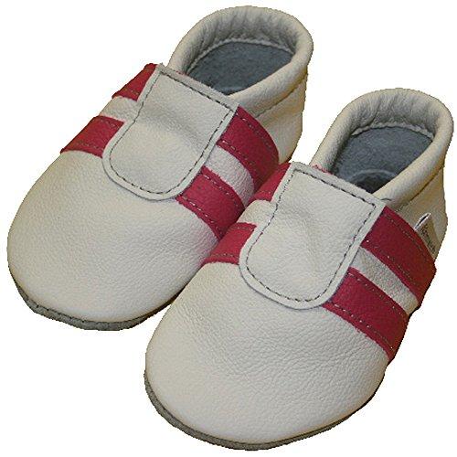 Sportif chaussures/chaussons pour bébé rose/blanc - pink-weiß