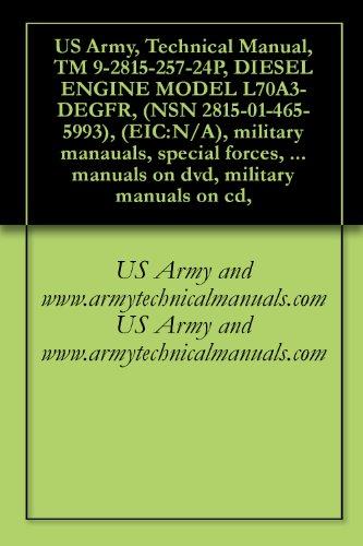 US Army, Technical Manual, TM 9-2815-257-24P, DIESEL ENGINE MODEL L70A3-DEGFR, (NSN 2815-01-465-5993), (EIC:N/A), military manauals, special forces, army ... military manuals on cd, (English Edition)