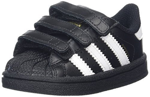 adidas Unisex Baby Superstar CF Gymnastikschuhe, Schwarz (Core Black/Footwear White/core Black), 20 EU