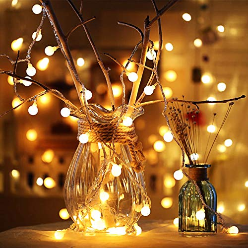 Globus Lichterketten, 6M 40Pcs LED Batteriebetriebene Lichterketten, Shining Decoration Lightning für Weihnachten Hochzeit Geburtstag Holiday Party Schlafzimmer Indoor & Outdoor