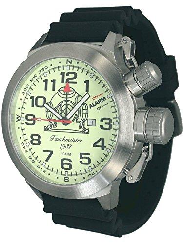 53mm XXL-Max.-SIZE Tauchmeister Alarm-Taucher Uhr T0187-PU