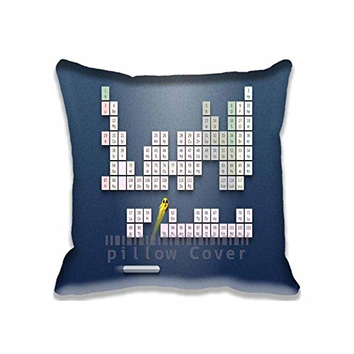 Unique Home Decorative Throw Pillow case/Copricuscini e federe Durable Cushion Cover Funny Periodic System Of Chemical Elements