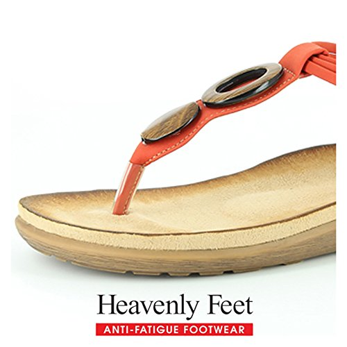 Sandali Di Phoebe Heavenly Feet Rossi Rosso