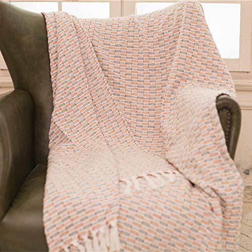 Gemütlich 100% Baumwolle Decke Sofa Handtuch Bettdecke Decke Schal Abdeckung volle Abdeckung Staubschutz für Sofa (Chenille Bettdecke)