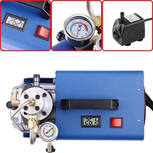BallylellyYH 30MPA Elektrischer Luftpumpen-Hochdruckkompressor für pneumatische Luftgewehr (Farbe: Blau u. Silber) (High-power-luftgewehr)