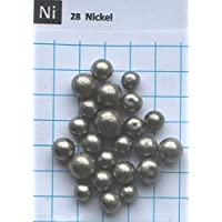 80 gramos 99,9% esferas de metal níquel – elemento puro 28 muestra – Envío gratuito