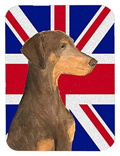 Caroline Natürlichen (Caroline's Treasures SS4921MP Mauspad mit natürlichen Ohren und britischer Flagge)