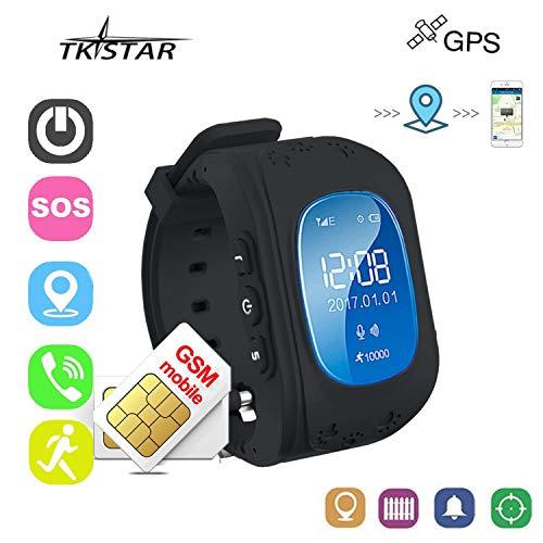 Relojes Niños Digitales Relojes Inteligentes Relojes Negros con Teléfono Smartwatch Niños Localizador...