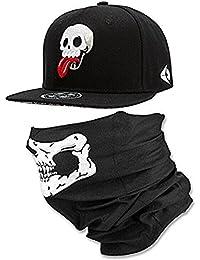 600dc2ea20e1c WUKE Hi8 Skull Skeleton Baseball Cap for Men and Boys 3D Embroidery Skull  Adjustable Snapback Hats