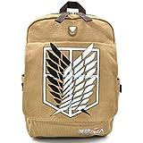 CoolChange mochila de Ataque a los Titanes de lino con logo de la legión de reconocimiento