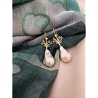 Orecchini in Argento 925 con Perle barocche a goccia