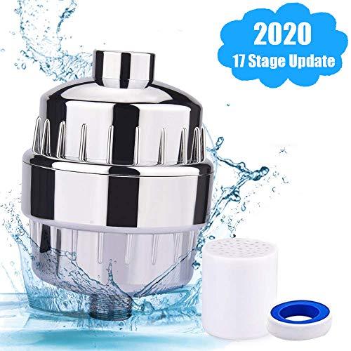 Filtro de ducha Universal, DMSL 17 Etapas Filtro Reemplazable de cabezal de ducha Purificador de agua...