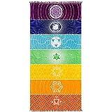 Candora yoga Mat Tapestry Rainbow 7colori strisce da spiaggia estate da appendere alla parete mandala coperta da viaggio Sunscreen scialle