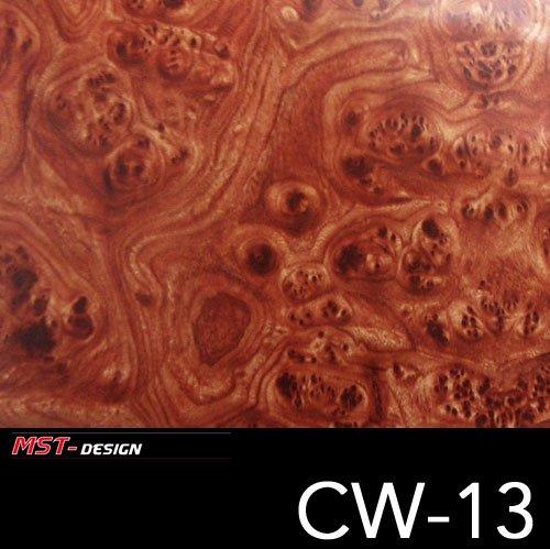 MST-Design Wassertransferdruck Folie I Starter Set Klein I WTD Folie + Dippdivator/Aktivator + Zubehör I 4 Meter mit 50 cm Breite I Wurzelholz/Holz I CW-13