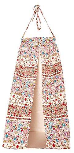 Trousselier - Bolsita para guardar pijama (25 x 25 x 55 cm), diseño de flores, color rojo