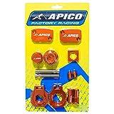 ABP KTM 15 - Apico Factory Bling Pack - KTM/Husqvarna XC-W125-150 17-18 EXC250/300 14-18 EXC-F250/350/450/500 14-18 (R) Orange
