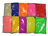 Perlin - Hotfix Steine Set 3mm 10 Farben Resin zum aufbügeln, 5000stk, Epoxy Neon Farben Mix, SS10, AAA Qualität, Hotglue, Glitzersteine Perlen, Hotglue Halbperle