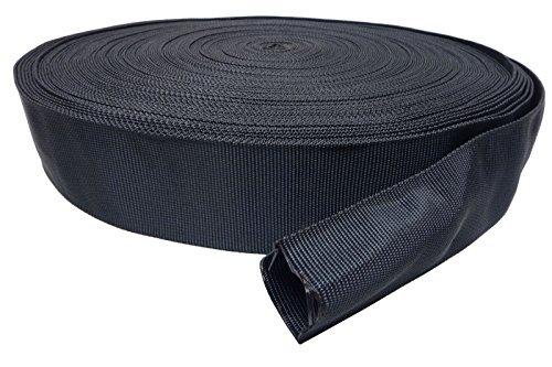 Preisvergleich Produktbild 1m Gewebeschlauch Nylon ID 40mm *** Kabelschutz Schutz Schlauch Hitze Abrieb